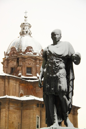 Rome covered by snow