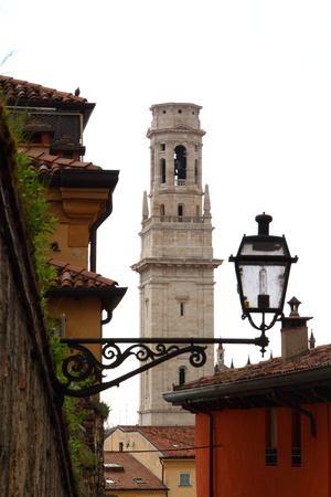Tower of Dome of Verona, Italy photo