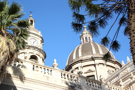 Domes of Cathedral of Catania, (Sicily, Italy)