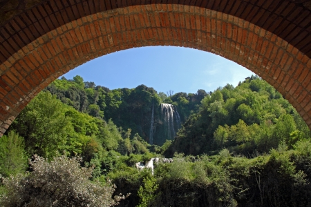 View of Marmore's Falls (Umbria, Italy), one of highest waterfall of Europe (165m) Stock Photo - 14267584