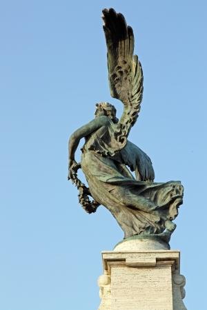 A bronze statue of an Angel near Saint Angel Bridge in Rome Stock Photo - 16900614