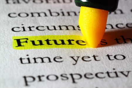 Word future highlighted with a yellow marker Stock Photo - 17174305