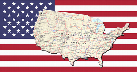 Vintage USA Map Los Angeles Stock Photo Picture And Royalty Free - Los angeles on a us map