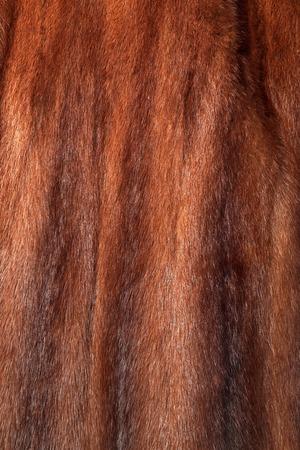 visone: pelliccia di visone Brown utilizzato come texture pelliccia o sfondo naturale Archivio Fotografico