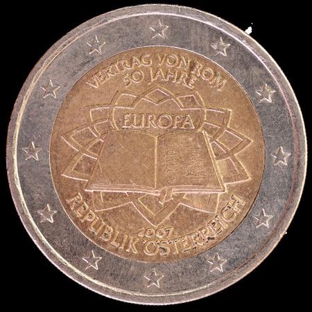 Gedenk 2 Münze Eur Ausgegeben Um Den 50 Jahrestag Des Vertrags Von