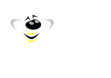 logo with bee Vector