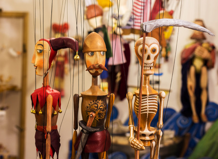 puppets: colorful puppets in prague