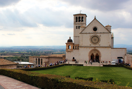 of assisi: Assisi Cathedral in Italy