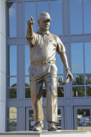 bobby: Statue Honoring Bobby Bowden and his accomplishments outside of  Doak Campbell stadium at FSU.