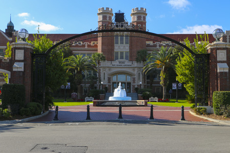 tallahassee: Entrance to Florida State University.