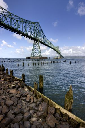Astoria-megler bridge in Astoria, Oregon. Stock Photo