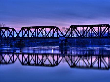 Train Trestle bridge in Columbus, Ohio.