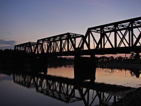 trestle: Train Trestle bridge in Columbus, Ohio.