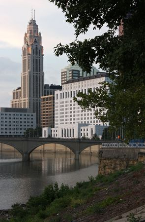 The Leveque Tower along the Scioto River in Columbus, Ohio