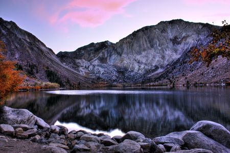 Convict Lake in the Eastern Sierras of California. Stock Photo