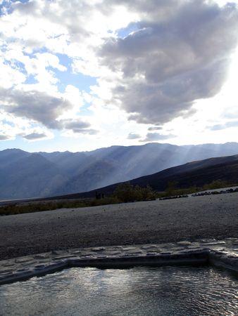 Hot Tub in Saline Valley of Death Valley.