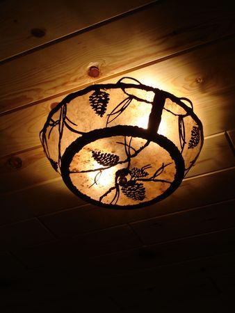 Pine cone ceiling light design.