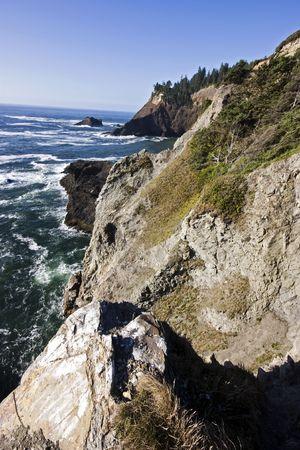 The rugged cliff coast of Oregon