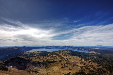 Beautiful sky over Crater Lake area in Oregon. Stock Photo - 6490022