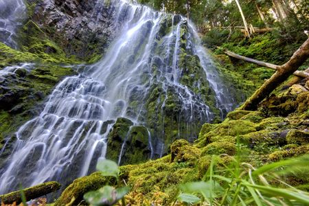 proxy falls: Lower Proxy falls in central Oregon