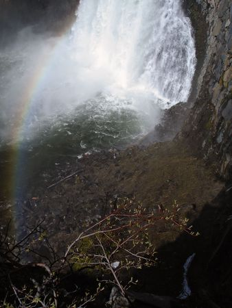 Rainbow over Rainbow Falls in California