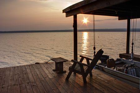 seneca: Sun rises over Seneca Lake in New York