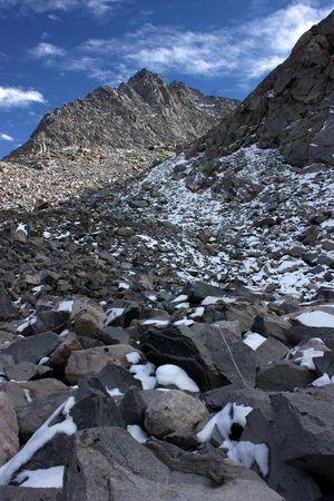 Rocky mountainsides of the Sierra Nevada mountain range in California