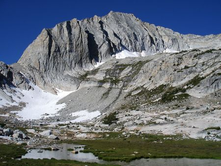 sierras: North Peak in the 20 Lakes Basin of the Sierra Nevada mountain range of California Stock Photo