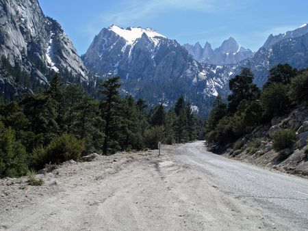 sierras: Road leading into the Mt. Whitney area of California