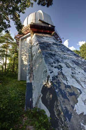 Grote telescoop op een observatorium in Michigan