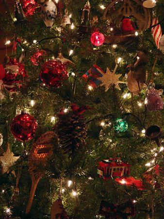 Christmas Tree full of beautiful ornaments