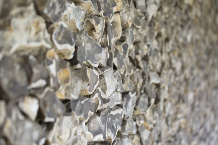 flint: old stone wall made of flint Stock Photo