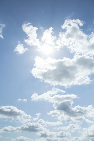backlit: Backlit clouds in the sky