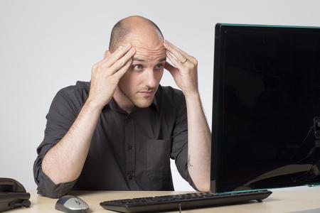 disbelief: Looking at screen in disbelief