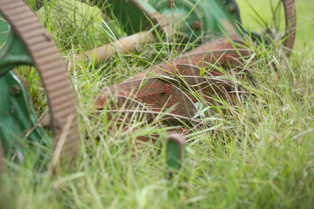 pull along: old Lawn mower