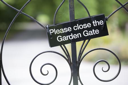 social grace: For saftey, please close the gate