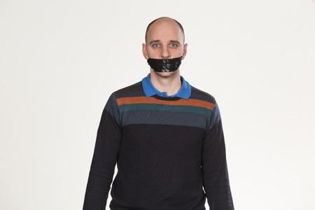 boca cerrada: Ni una palabra Foto de archivo
