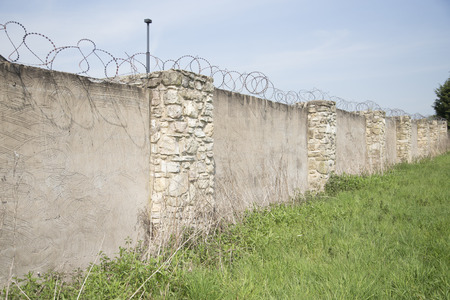 prison wall: The prison wall Stock Photo