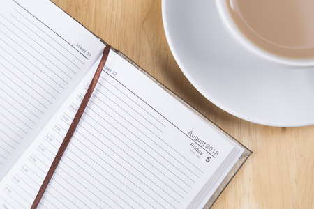 lined paper: Open diary with lined paper