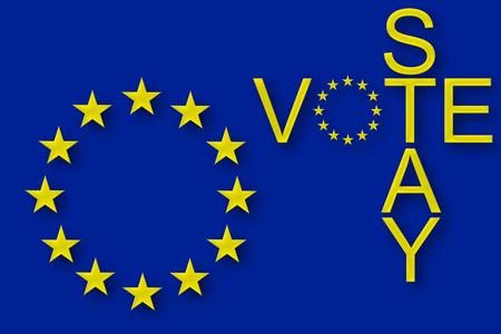euro area: Vote to stay in the EU Stock Photo