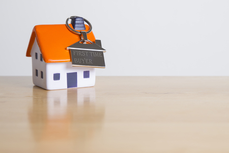 Kaufen Sie Ihre erste eigene Wohnung Standard-Bild