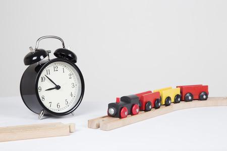 delays: track under construction, delays concept Stock Photo