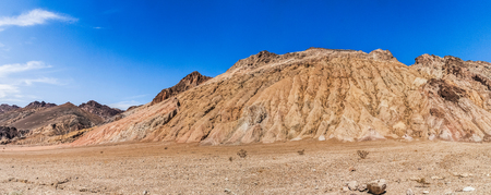 Rock Formation alongside the Artists drive in the Death Valley National Park, California. Stock Photo