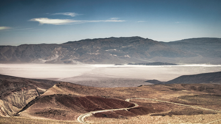The Panamint Valley in the Valley National Park in summer (California) - horizontal