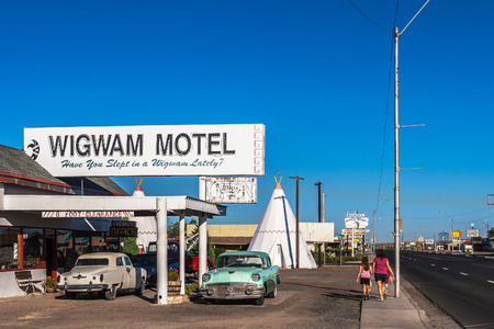 The Famous Wigwam Motel along the road 66 located in Holbrook, Arizona.