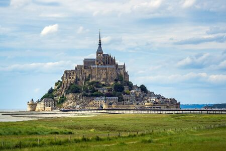 Mont St Michel exterior building cityscape, Normandy, France