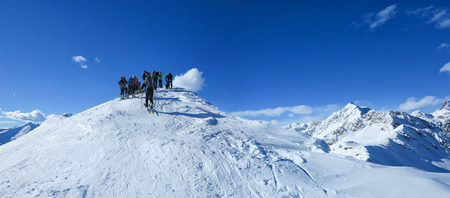 piste: Reaching the top of the mountain is beautiful