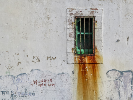 shadow man: Old room in a hipotetic greek ancient prison