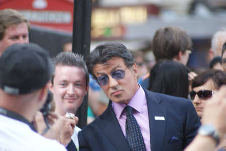 sylvester: London, England - 10 August 2010 - Sylvester Stallone arriving at the UK premiere of The Expendables