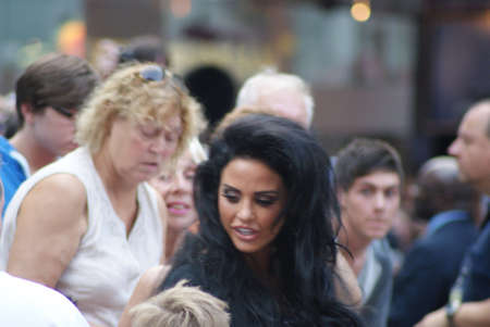 London, England - 10 August 2010 - Katie Price arriving at the UK premiere of The Expendables Stock Photo - 7798349